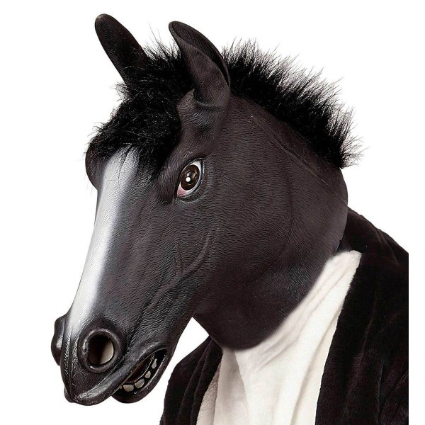 Αποκριάτικη Μάσκα Άλογο Μαύρο