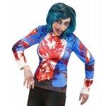 Αποκριάτικη Μπλούζα Zombie Λευκή με Αίμα Medium