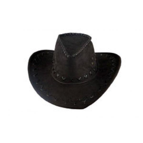 Αποκριάτικο Αξεσουάρ Καπέλο Κάου Μπόι Suede Μαύρο