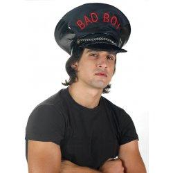 Αποκριάτικο Αξεσουάρ Καπέλο Vinyl Bad Boy Μαύρο