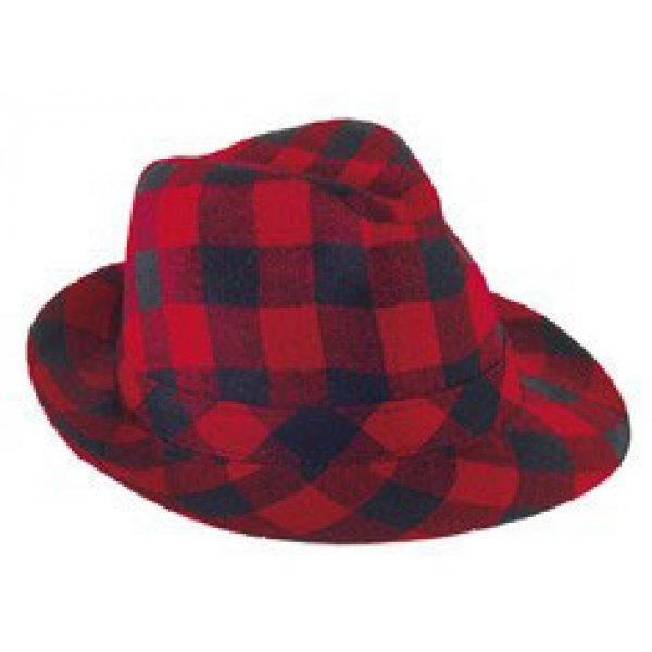 Αποκριάτικο Αξεσουάρ Καπέλο Καβουράκι Καρό, Κόκκινο