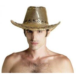 Αποκριάτικο Αξεσουάρ Καπέλο Κάου Μπόι, Χρυσό