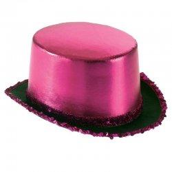 Αποκριάτικο Αξεσουάρ Καπέλο Ημίψηλο Σατέν Ροζ