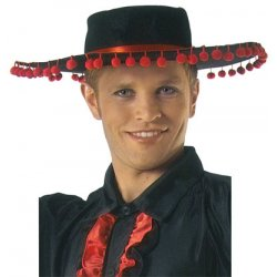 Αποκριάτικο Αξεσουάρ Καπέλο Ζαπάτα Μαύρο