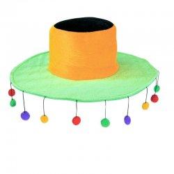 Αποκριάτικο Αξεσουάρ Καπέλο Πομ-Πομ
