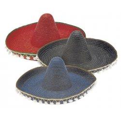 Αποκριάτικο Αξεσουάρ Καπέλο Μεξικάνου Ψάθινο, 3 Χρώματα