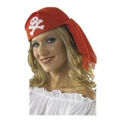 Αποκριάτικο Καπέλο Πειρατή, Μαντήλι Κόκκινο