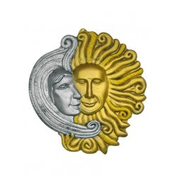 Αποκριάτικο Αξεσουάρ Ντεκόρ Φεγγάρι και Ήλιος