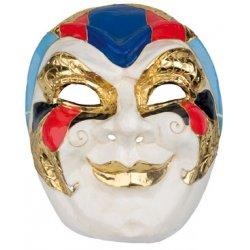 Αποκριάτικη Μάσκα Giant Βen Paper Mache, Χρυσό-Μπλε