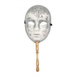 Αποκριάτικη Μάσκα Βεν Paper Mache με Χερούλι
