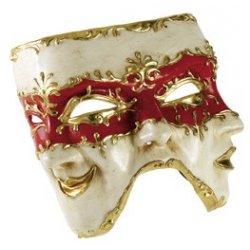 Αποκριάτικη Μάσκα Ben Paper Mache Τρία Πρόσωπα