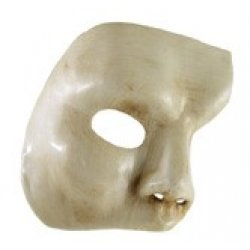 Αποκριάτικη Μάσκα Βεν Paper Mache Φάντασμα της Όπερας (Μπεζ)