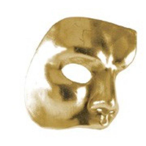 Αποκριάτικη Μάσκα Ben Paper Mache Φάντασμα της Όπερας (Χρυσό)