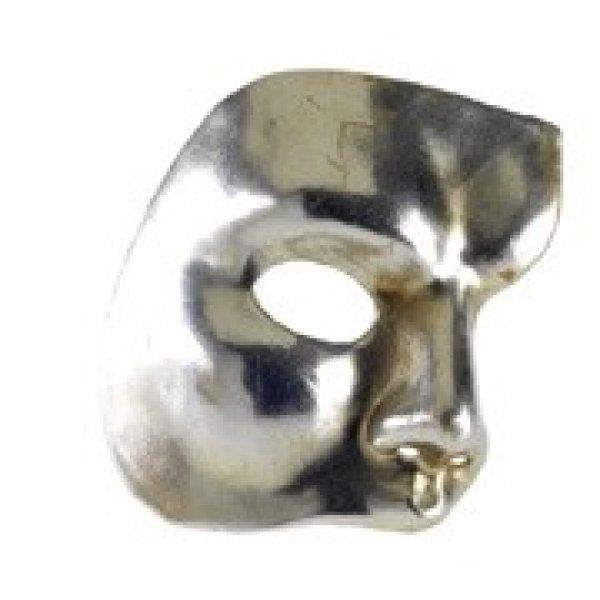 Αποκριάτικη Μάσκα Ben Paper Mache Φάντασμα της Όπερας (Ασημί)