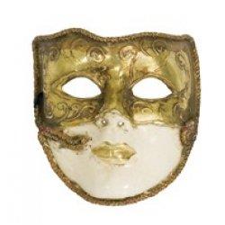 Αποκριάτικη Μάσκα Βεν Paper Mache (Χρυσή)