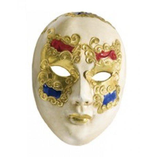 Αποκριάτικη Μάσκα Βen Paper Mache (Χρυσό - Μπλε - Κόκκινο)