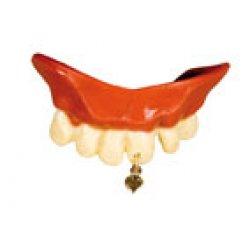 Αποκριάτικα Αστεία Δόντια, με Σκουλαρίκι Καρδούλα
