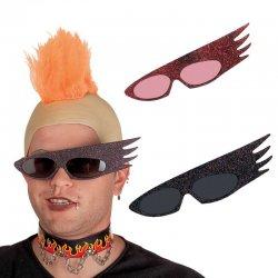 Αποκριάτικα Γυαλιά Punk με Γκλίτερ (3 Χρώματα)