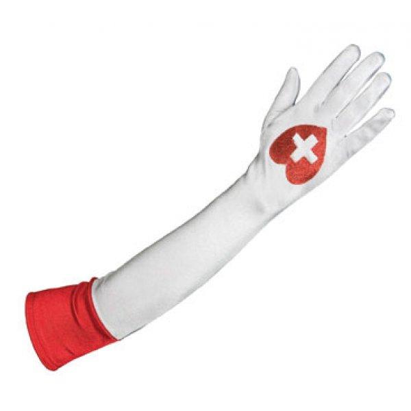 Αποκριάτικα Γάντια Νοσοκόμας Λευκό