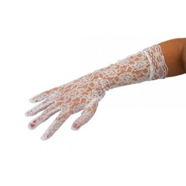 Αποκριάτικα Γάντια Δαντελένια Λευκά