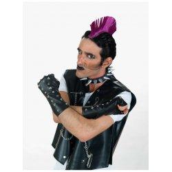 Αποκριάτικο Αξεσουάρ Γάντια Punk με Μεταλλικά Κουμπιά