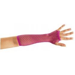 Αποκριάτικο Αξεσουάρ Γάντια Φούξια Δίχτυ