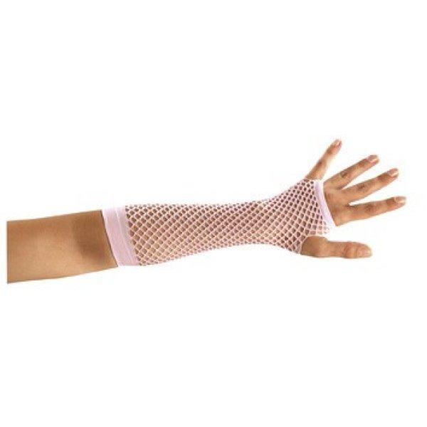 Αποκριάτικα Γάντια Ροζ Δίχτυ