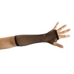Αποκριάτικο Αξεσουάρ Γάντια Μαύρα Δίχτυ