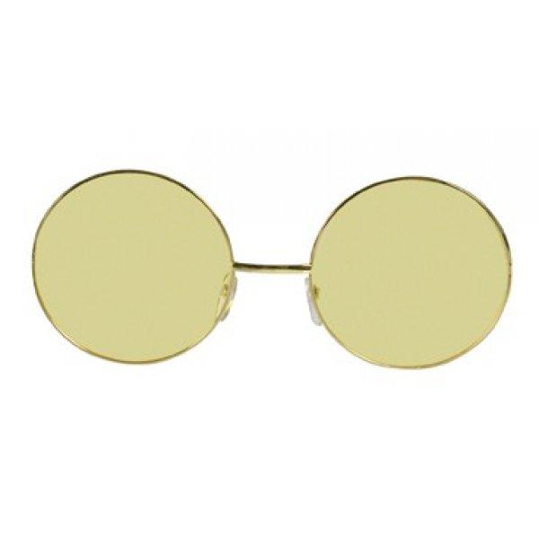 Αποκριάτικα Γυαλιά Χίπη Giant Κίτρινα