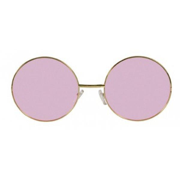 Αποκριάτικα Γυαλιά Χίπη Giant Ροζ