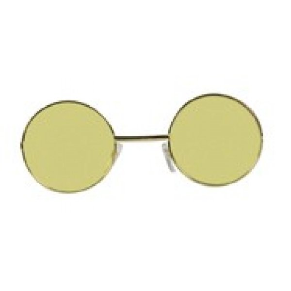 Αποκριάτικα Γυαλιά Χίπης Κίτρινα