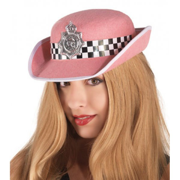 Αποκριάτικο Αξεσουάρ Ροζ Καπέλο Αγγλίδας Αστυνομικού