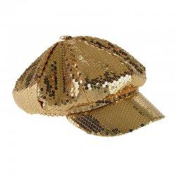 Αποκριάτικο Αξεσουάρ Καπέλο Ντίσκο με Πούλιες Χρυσό