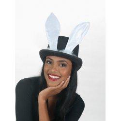 Αποκριάτικο Αξεσουάρ Γυναικείο Καπέλο με Λευκά Αυτιά