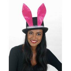 Αποκριάτικο Αξεσουάρ Γυναικείο Καπέλο με Ροζ Αυτιά