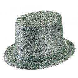 Αποκριάτικο Αξεσουάρ Γυναικείο Καπέλο Ημίψηλο Ασημί