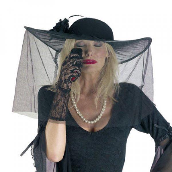 Αποκριάτικο Αξεσουάρ Γυναικείο Καπέλο Εύθυμης Χήρας