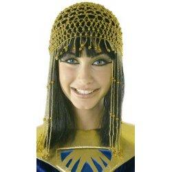 Αποκριάτικο Αξεσουάρ Γυναικείο Καπέλο Κλεοπάτρας με Χάντρες (3 Χρώματα)