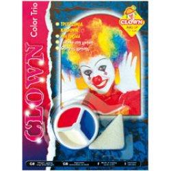 Αποκριάτικο Μακιγιάζ Κλόουν 3 Χρώματα