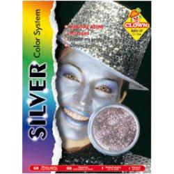 Αποκριάτικο Μακιγιάζ Glitter Ασημί