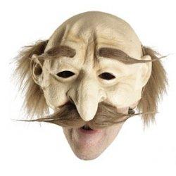 Αποκριάτικη Μάσκα Latex Γέρου (Καφέ)