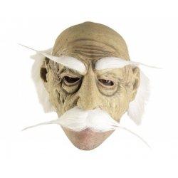 Αποκριάτικη Μάσκα Λατέξ Γέρου (Άσπρο)