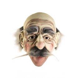 Αποκριάτικη Μάσκα Latex Γέρου (Μαύρο)