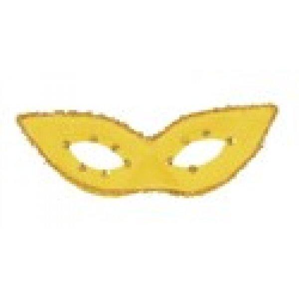 Αποκριάτικη Μάσκα Ματιών με Μύτες (Κίτρινο)
