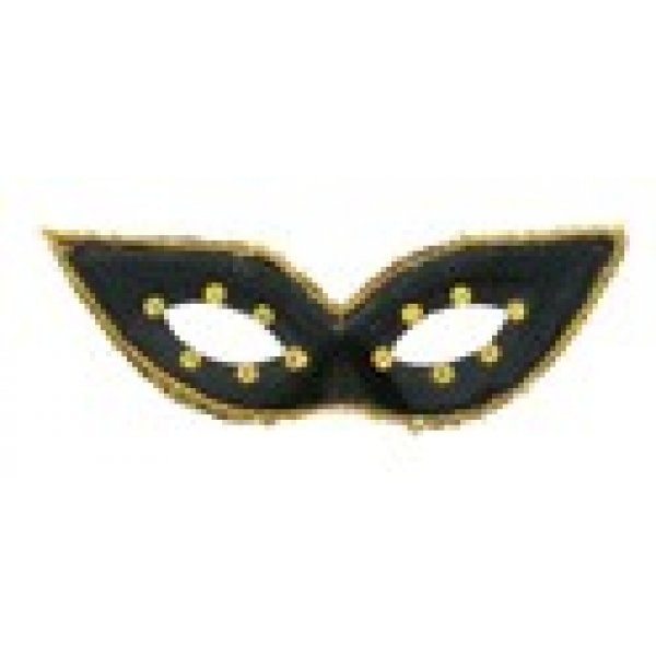 Αποκριάτικη Μάσκα Ματιών με Μύτες (Μαύρο)