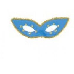 Αποκριάτικη Μάσκα Ματιών με Μύτες (Μπλε)