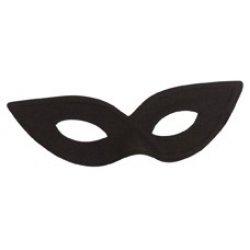 Αποκριάτικη Μάσκα Ματιών Μαύρη