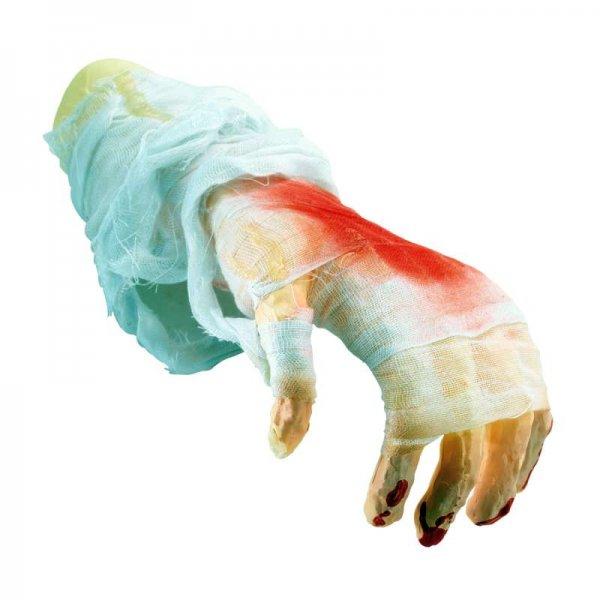 Αποκριάτικο Αξεσουάρ Χέρι με Αίμα και Γάζα