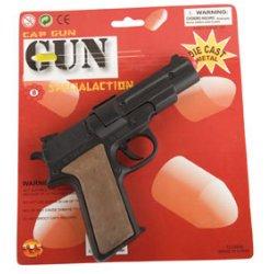 Αποκριάτικο Αξεσουάρ Όπλο Μεταλλικό Police Μαύρο