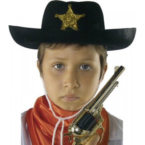 Αποκριάτικο Παιδικό Καπέλο Σερίφη Τσόχινο